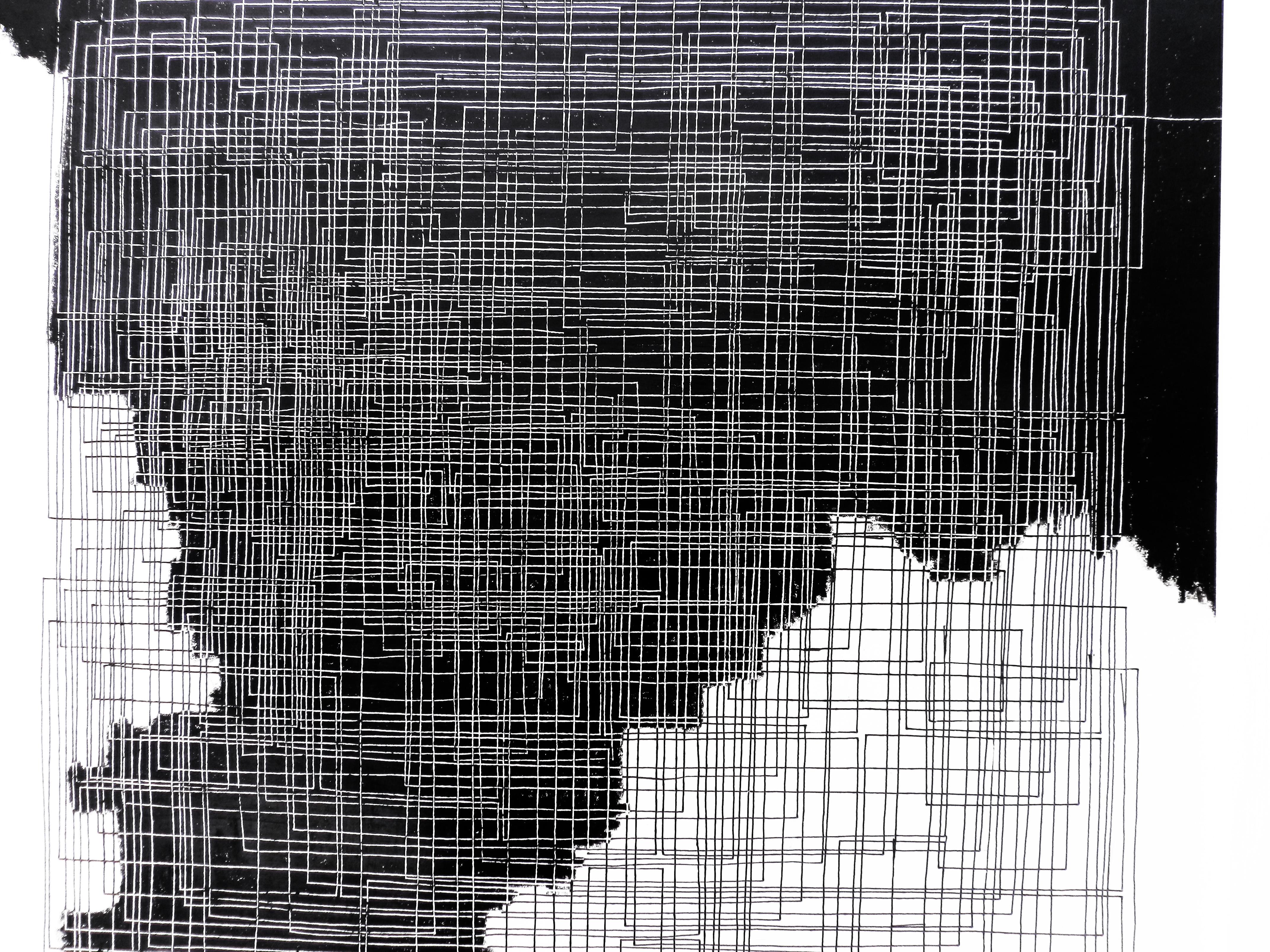 trame  blanc  noir