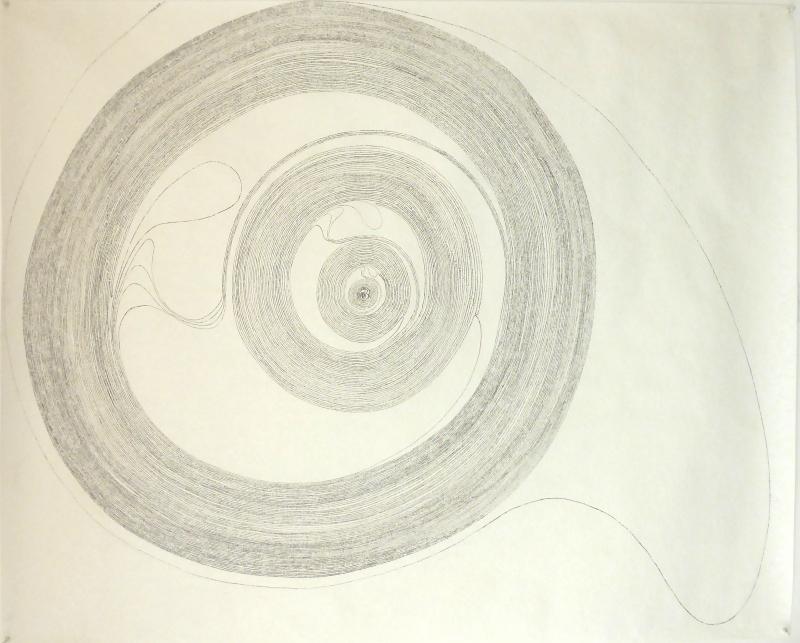 Encre sur papier peint / 100*120 cm